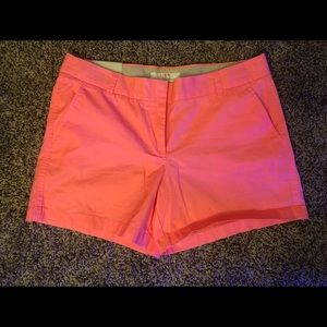 Neon Pink J. Crew Chino shorts NWT